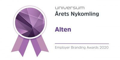 Pris som årets nykomling i Universum Employer Branding awards