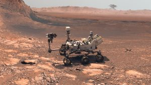 Robotbilen Perseverance på Mars