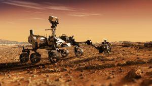 Robotbilen Perseverance på planeten Mars